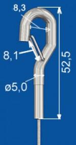 Stahlhaken mit Aushängesicherung