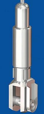 Drahtseilhalter Typ 25V  M8 o.R., mit Verriegelungsmutter Gabel 6x12