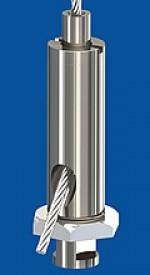 Drahtseilhalter Typ 18 ZW NK M10x1, mit Sicherungsmutter