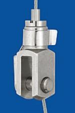 Drahtseilhalter Typ 15 Gabel 6x12, mit Sicherungsbolzen