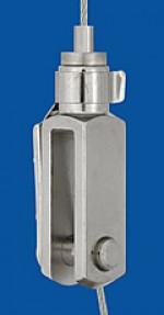 Drahtseilhalter Typ 15 Gabel 6x24, mit Sicherungsbolzen