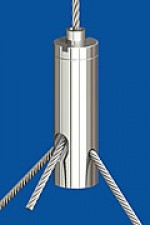Drahtseilhalter Typ 15 ZW  M5i, Querbohrung 2,0  mit Gewindestift  Für Y-Abhängungen
