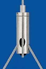 Drahtseilhalter Typ 15 ZW M5ix5, mit Schlitz 2,0 mit Gewindestift für Y - Abhängungen