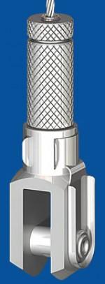 Drahtseilhalter Typ 30V  m.R., mit Verriegelungsmutter Gabel 10x20