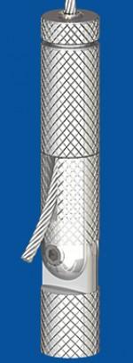 Drahtseilhalter Typ 30VZW  Gelenk M8i,  mit Verriegelungsmutter