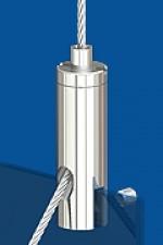 Drahtseilhalter Typ 15 ZW Schlitz 2,5mm M3 Mit Gewindestift DIN 4028 M3x6 - zum Klemmen