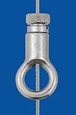 Drahtseilhalter Typ 15 V  Ring, mit Verriegelungsmutter