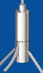 Y-Drahtseilhalter Typ 25ZW M6i,Q3.0 mm o.R. mit Gewindestift  M6x8  Für Y-Abhängungen