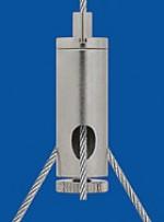 Drahtseilhalter Typ 12 M8x1 A9 m. Koppelteil ZW M4ix4, Schlitz,6mm mit Feststellschraube Für Y-Abhängungen