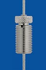 Drahtseilhalter Typ 15 V  M10x16, mit Verriegelungsmutter