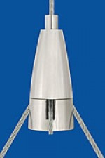 Drahtseilhalter Typ 15 ZW  Ellipse, M5x5, Q 2,2