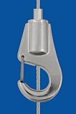 Drahtseilhalter Typ 15  Haken, mit Aushängesicherung
