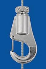 Drahtseilhalter Typ 15 V  Haken, mit Aushängesicherung,  mit Verriegelungsmutter