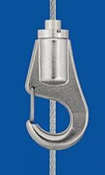 Drahtseilhalter Typ 18 Haken, mit Aushängesicherung