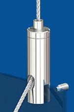 Drahtseilhalter Typ 15 ZW Schlitz 2,5mm M3 Mit Gewindestift DIN 4026 M3x3 - zum Durchstecken.