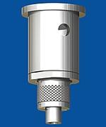 Kombination aus Deckenbefestiger M13x1 m.B. mit Drahtseilhalter Typ 18 M13x8A m.R.