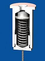 Federspanner M13x1, vernickelt  Bis Seil ø 2,0mm