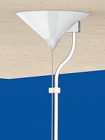 Universal Canopy Cone Ø 115x57, silver RAL 9022