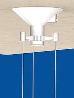 Canopy Cone, 3-point-suspension, white