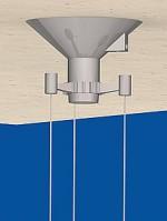 Canopy Cone, 3-point-suspension, titanic silver