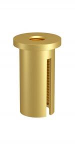 Deckenbefestiger M10x1, M6i, mit Schlitz, Alu gold eloxiert
