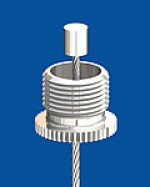 Screw cap M13x1 with longitudinal knurl