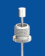 Screw cap M10x1 with longitudinal knurl