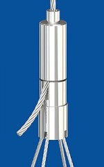 Holder type 25 ZW M10x1 with 4-cable coupler