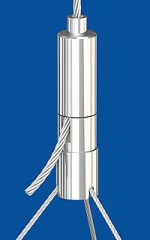 Holder type 25 ZW with 3-cable coupler