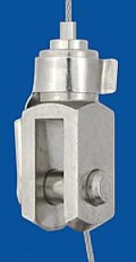 Drahtseilhalter Typ 15 Gabel  8x16, mit Sicherungsbolzen