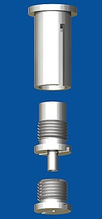 Combination of ceiling attachment  M10x1, M6i with slit and screw cap M10x1 and holder type 15 M10x6A