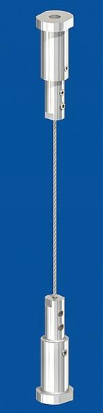 Spannset ohne Halter, Seil-Ø2,0mm