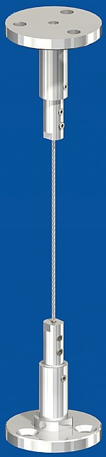Spannset ohne Halter, mit großer Deckenplatte, Seil-Ø2,0mm