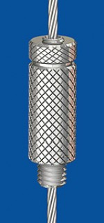 Holder type 25V M8, knurled with safety nut