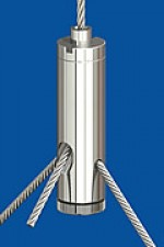 Y-Drahtseilhalter Typ 15 ZW  M5ix6 Q2,0mm o.R. mit Feststellschraube M5