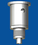 Combination of ceiling attachment M13x1 with bore and holder type 18 M13x8A, knurled