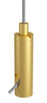 Drahtseilhalter Typ 18 ZW M6i, Alu gold eloxiert