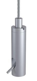 Drahtseilhalter Typ 18 ZW M6i, Alu natur eloxiert