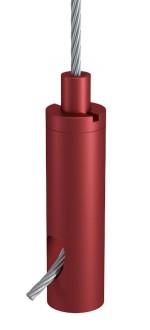 Drahtseilhalter Typ 18 ZW M6i, Alu rot eloxiert