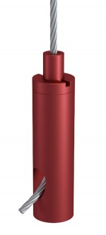 Holder Type 18 ZW M6i, Aluminium red anodised