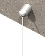 Ball-joint-ceiling attachment, small, 360°, nickel plated